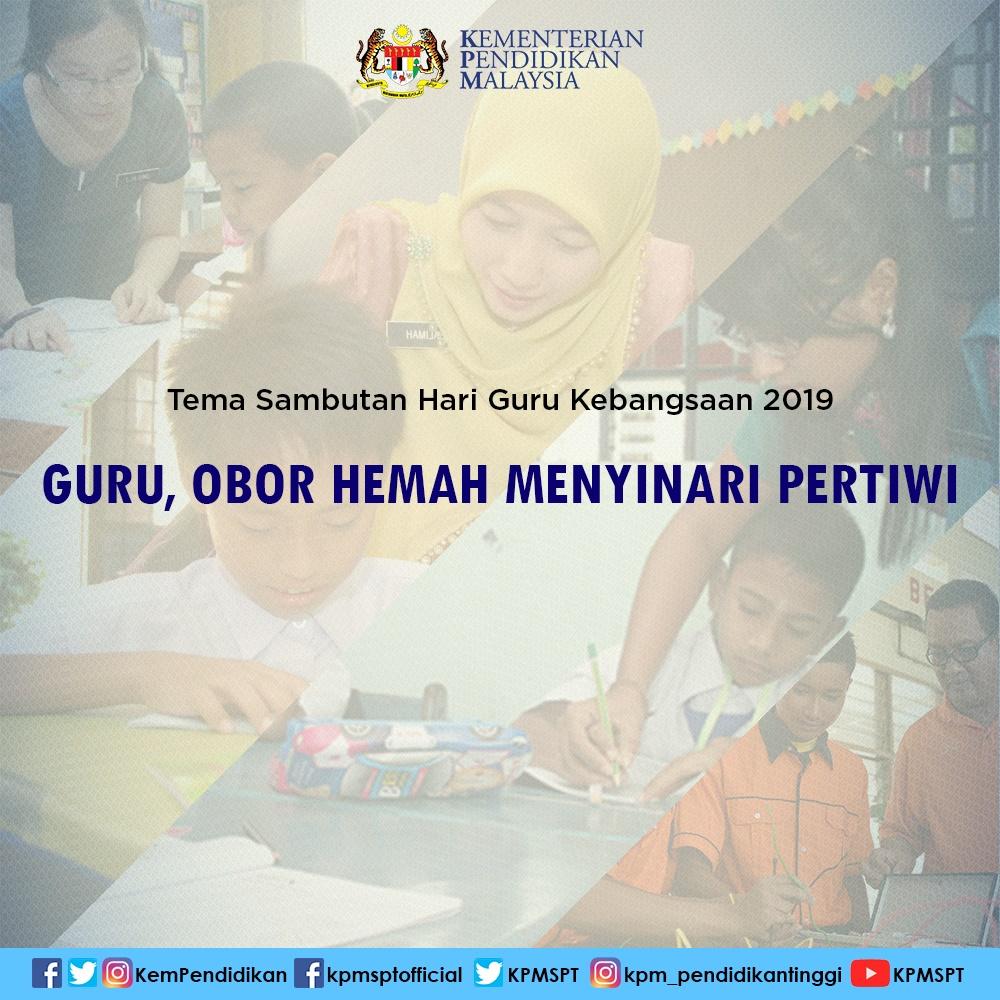 Infografik Tema Hari Guru 2019 s