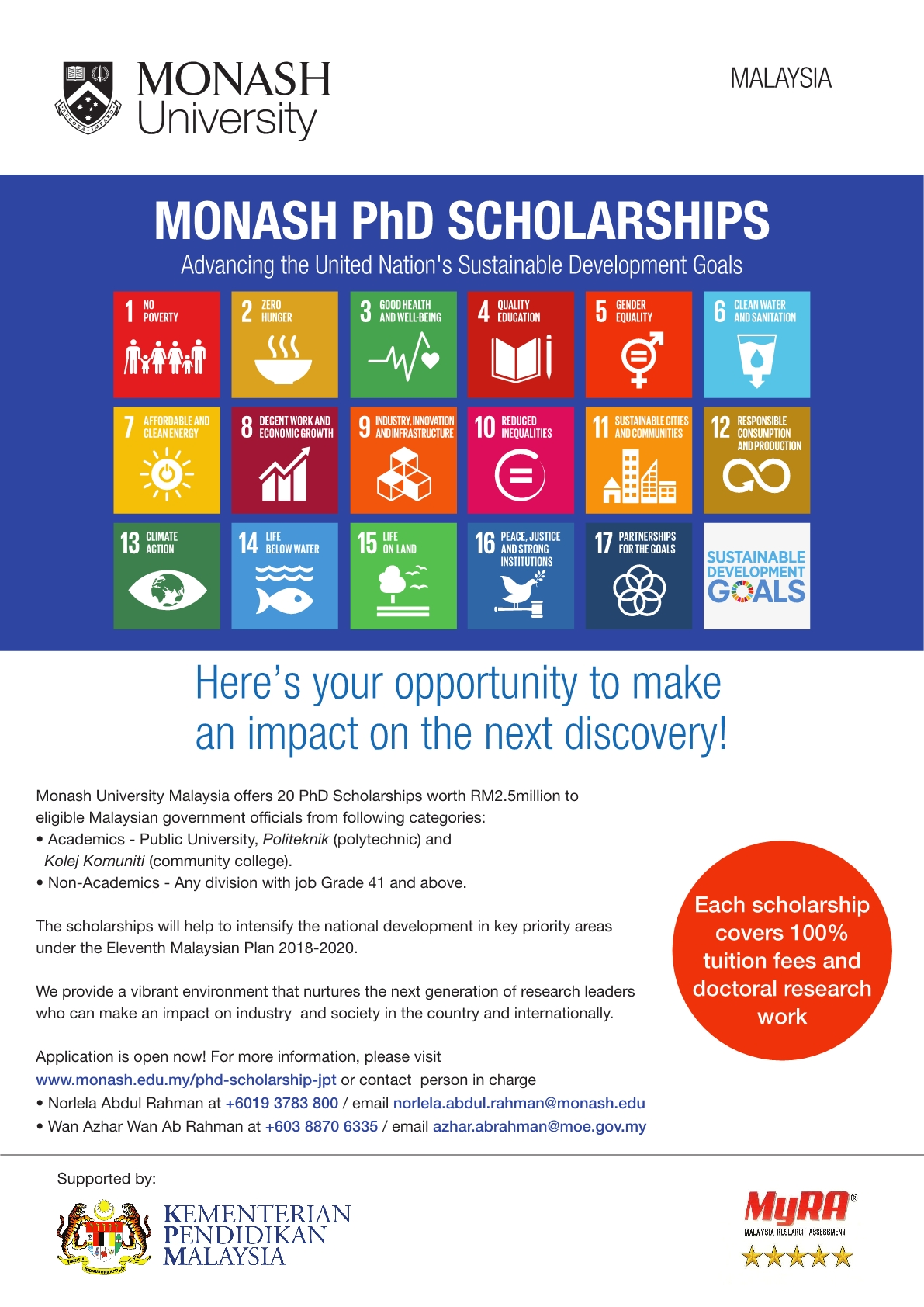 MONASH PhD Scholarship Flyer1