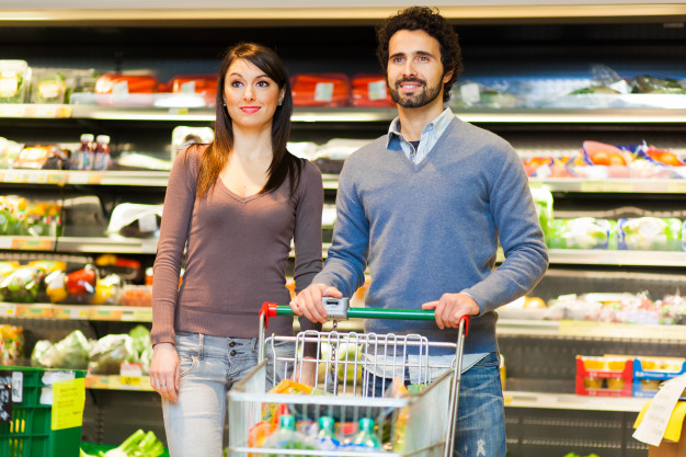 young couple shopping in a supermarket 53419 6257